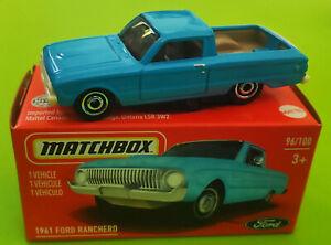2021 MATCHBOX POWER GRABS #96/100 - 1961 FORD RANCHERO - BNIB