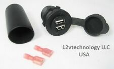 Waterproof USB Charger Adapter Socket 12 V Outlet Power Jack Marine Motorcycles