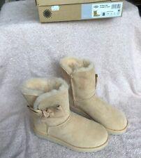 MOU Damen Schuhe Boots Stiefel ESKIMO 18 Gr 38 Grau Lammfell Leder NP 219 NEU
