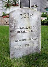 GIRL IN BLUE Halloween Tombstone Yard Prop Cemetery Graveyard Horror Movie Myers
