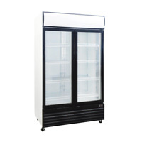 Procool CSD-1000 2 Door Display Beverage Cooler Merchandiser Refrigerator