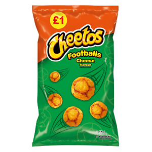 CHEETOS CHEESE FOOTBALLS 60g BAGS x 15 - FULL BOX - LONG DATE