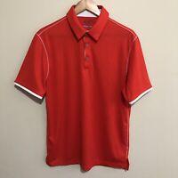 Adidas Climacool Tennis Golf Fitness Polo Shirt Short Sleeve Orange Mens Medium