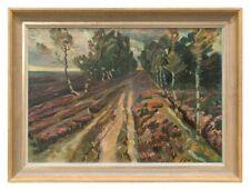 0476-Cortejohann, Gemälde Herbststimmung auf der Heide, um 1925