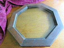 "Vintage Octagon Window from 1898 Attic Gable--Measures 15-1/2 glass;18-1/2"" wood"