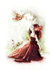 Fairy Fantasy Owl Girl Art Print Florence Anderson Attwell Style