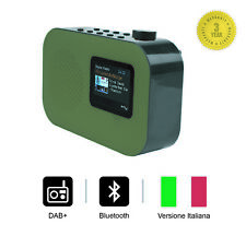 """Smith-Style Radio Digitale Bluetooth DAB+ FM con Sveglia, Schermo a 2,4""""- Verde"""