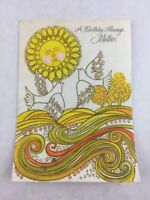 Vintage Mother Birthday Card Dove Sun Rust Craft New Made in USA