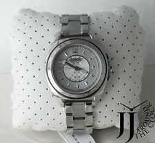 New COACH Boyfriend Crystal Dial Silver Tone Bracelet Watch 14501284 35mm
