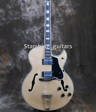 F Hole Semi Hollow Body Electric Guitar Byrdland Nature Color Block Inlay