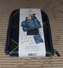 Pure Honey Convertible Stow-N-Go- Bag! Green/Blue Plaid Style! New in Package!