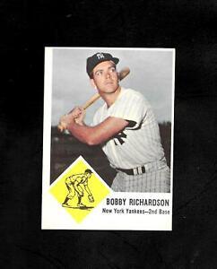1963 FLEER #25 BOBBY RICHARDSON - BORDERLINE MINT - YANKEES - COMBINE SHIPPING