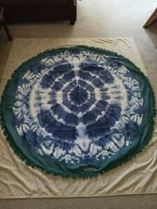 Round Gypsy 05 100% Cotton Mandala Print Table Cloth  Throw Sheet dim. 65''