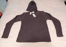 Men's Vintage Parasuco Detachable Sleeve Sweater Gray Hooded Unique Retail $125