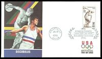 US 3087 Myron's Discobolus Olympics July 19 1996 Fleetwood FDC F3087-1