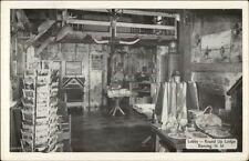 Deming NM Round Up Lodge Lobby Postcard Rack - Postcard