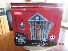 Dept. 56 Nightmare Before Christmas Halloween Town City Hall Nib