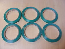 6 ROLLS OF GREEN BAG SEALER TAPE FOR NECK SEALER MACHINES (9mm x 66m) - NEW