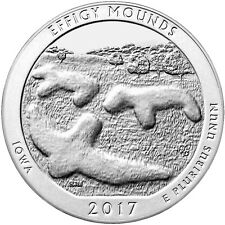 2017 25c 5 Troy oz. Silver ATB America the Beautiful Effigy Mounds Coin SKU45275