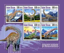 Guinea Bissau 2018  Dinosaurs fauna   S201811