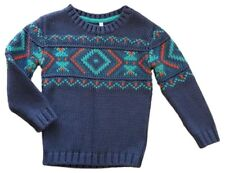 Ex M+S Kids Boys Winter Knitted Jumper Baby Sweater Vintage Christmas Xmas Gift