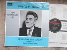 FRITZ KREISLER Mendelssohn Violin Concerto UK LP VINYL UK HMV  HQM 1104