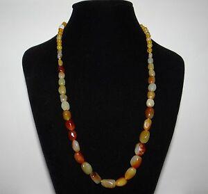 "0.6"" China Certified Nature Nephrite Hetian Jade Brown Skin Pearl Necklace"