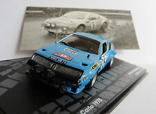 ALPINE RENAULT A310 1800 #5 RALLY MONTE CARLO 1975 THERIER VIAL IXO ALTAYA 1/43
