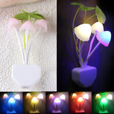 Romantic Colorful Sensor LED Mushroom Night Light Wall Lamp Home Decor Fashion