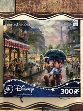 NEW Disney Thomas Kinkade Jigsaw Puzzle Mickey and Minnie in Paris 300 Piece