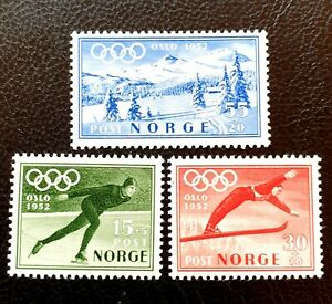 NORWAY 1951 OLYMPICS WINTER LANDSCAPE FULL SET MNH SG 434-436 SC B50/2 MI372-374