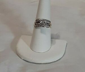 14KT YELLOW & WHITE GOLD DIAMOND WEDDING RING.SET SIZE 7 1/2