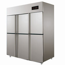Stainless steel 6 door under bench fridge UP-1875C Commercial fridge freezer