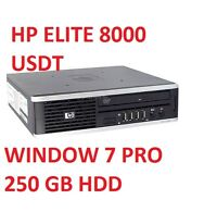 HP ELITE 8000 USFF CORE 2 DUO 6 GHz 4GB 250GB HDD Window 7 Professional Warranty