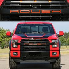 ABS PLASTIC Gloss Red Front Grill Inserts For 2015-2017 Ford F150 ROUSH Grill