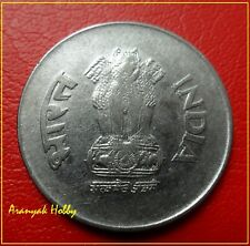 India 1 rupee 1998 hyderabad mint steel issue scarce double die error coin
