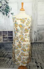 HOBBS Ivory floral Silk pencil dress size 18