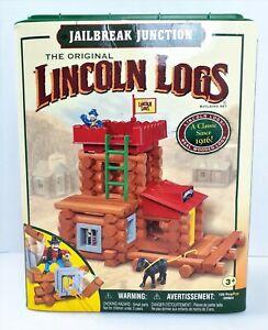 Original Lincoln Logs Jailbreak Junction 2003 Hasbro K'nex 88 pieces of 100