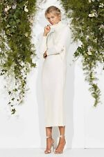 NEW Maurie & Eve ALL RIGHT NOW MIDI DRESS WHITE Knitted Dress Size 10