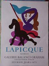 Charles LAPICQUE - Affiche poster lithographie Mourlot Sorlier 1973 Aquarelles *