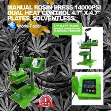 """Rosin Press Manual Oil Press Clamshell Heat Press Transfer 4.7"""" x 4.7"""" Plates"""