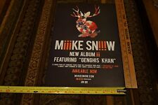 "Mike Snow Genghis Khan NEW poster 11"" x 17"""