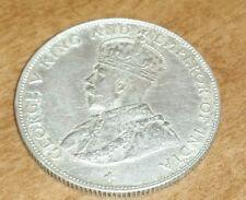 1920 Straits Settlements 50 Cent Half Dollar Silver Cross under bust