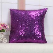 1PC Glitter Pillow Cover Sequin Sofa Waist Throw Cushion Case Home Car Decor