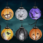 6 Pcs Halloween Paper Lanterns with LED Light - Halloween Decorations - Scary -