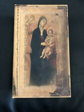 Madonna And Child Icon Secret Storage Book Box Stash Box  Faux Leather Over Wood