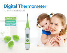 10-SECOND FLEXIBLE DIGITAL THERMOMETER Fever Alarm °C / °F User-settable