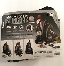 Franklin Multi-Purpose Slingbak Baseball / Softball Equipment Bag - Black & Gray