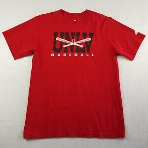 Adidas Red T-Shirt Size Medium UNLV Runnin Rebels Baseball Short Sleeve Mens