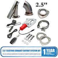 2.5'' Exhaust Valve Catback Downpipe Cutout E-Cut System Stainless Kit Control